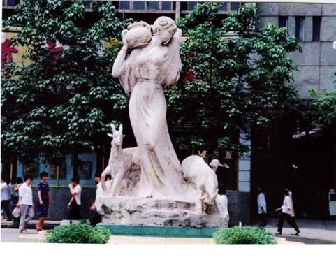 盐泉雕像引出自流井
