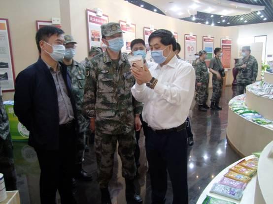自贡市委常委、军分区司令员秦磊一行莅临久大舒坪园区调研
