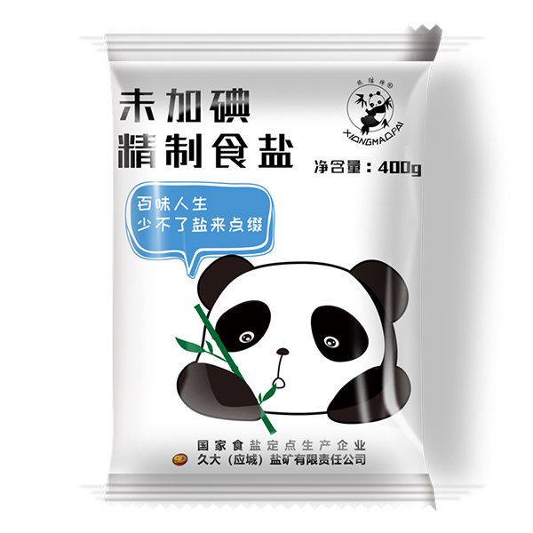 熊猫盐牌未加碘精制食盐