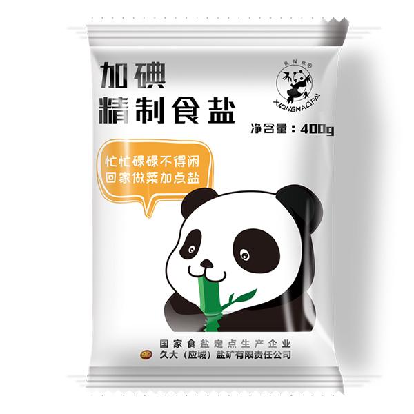 熊猫盐牌加碘精制食盐